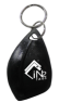 Shark Tooth ABS Key Fob NXP Mifare Plus X S4