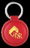 RFID Circular Leather Key Fob NXP I Code SLI-S 13.56 MHz