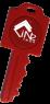 RFID NFC Key Shaped ABS Key Fob NXP I Code SLI-S